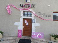 décoration faite par les enfants de l'école de Massingy dans le cadre d'Octobre Rose