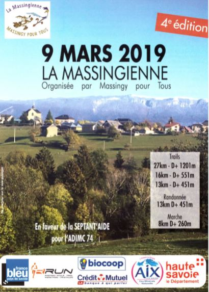 flyer d'inscription pour la 4ème édition de la Massingienne